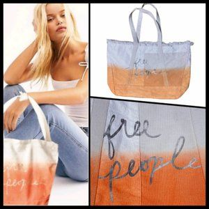 Free People Ombre Dip Dyed Cotton Boho Bag NWOT